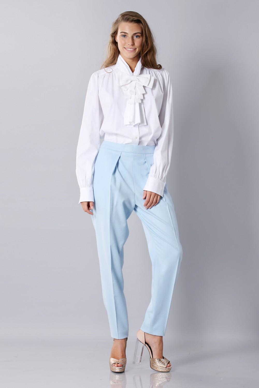 Pantalone classico azzurro