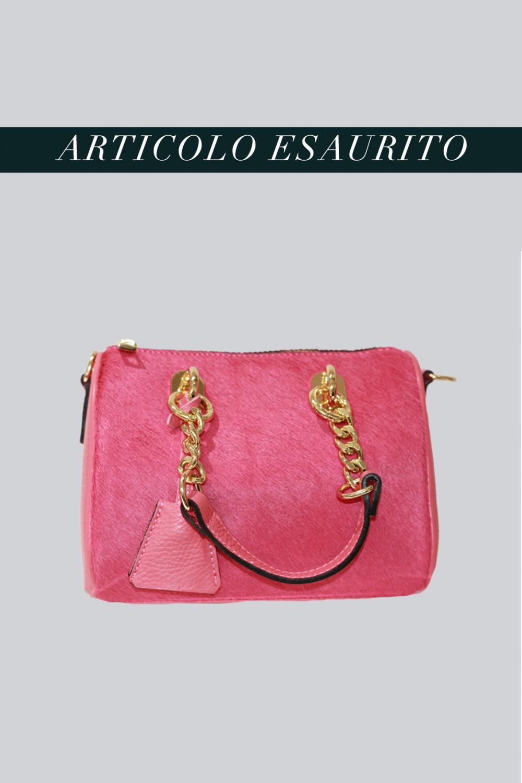 Mini bauletto in cavallino rosa