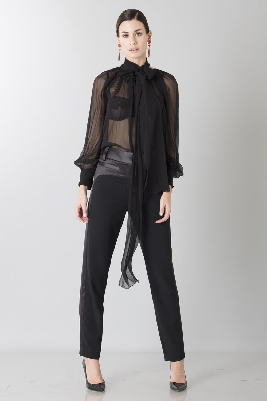 Camicia nera in seta