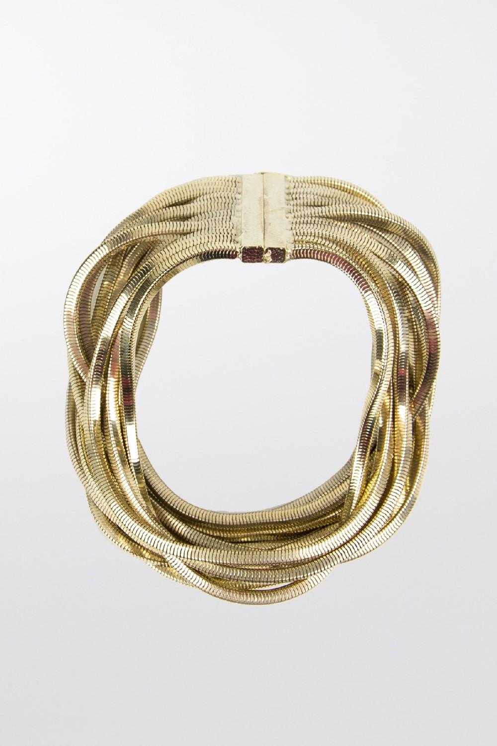 Girocollo con fili dorati