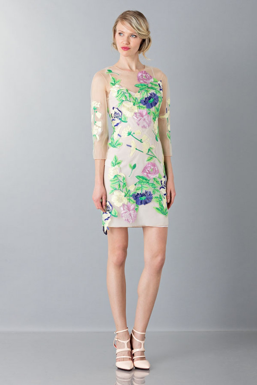 VestIto corto con fiori e decori