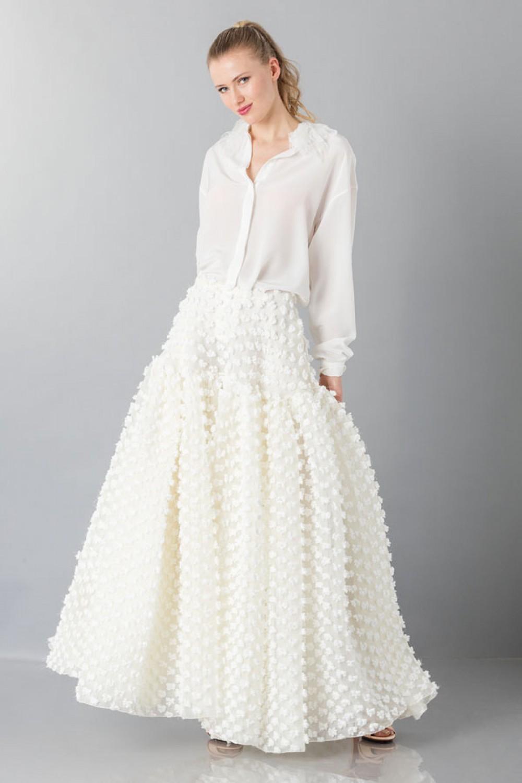 Camicia bianca in seta