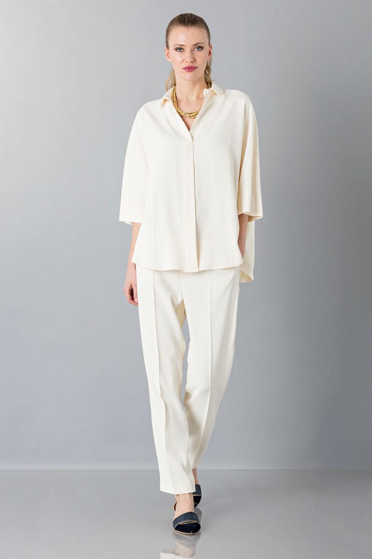 Completo bianco pantalone e camicia