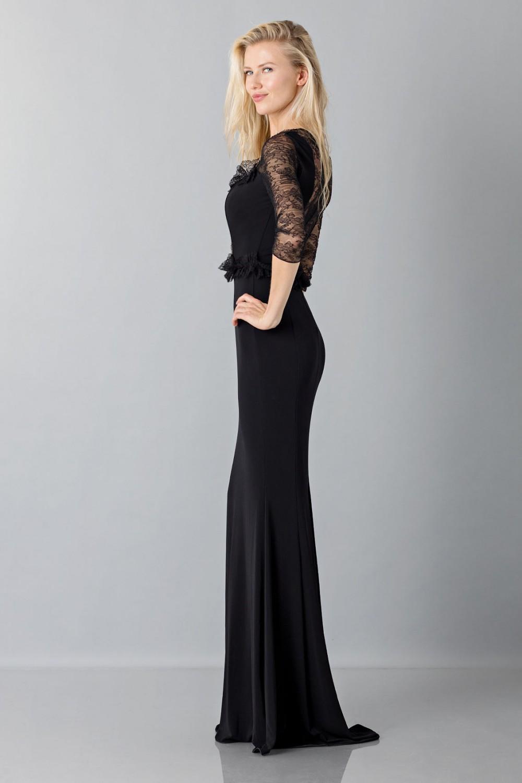 Favorito Noleggio abito Blumarine - Abito nero a sirena con con maniche in  XR35