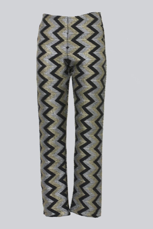 Pantalone con motivo geometrico