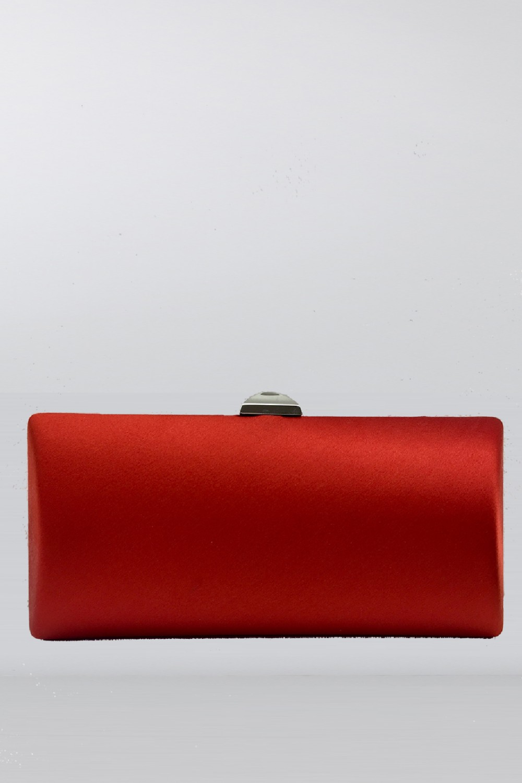 Clutch in raso rosso