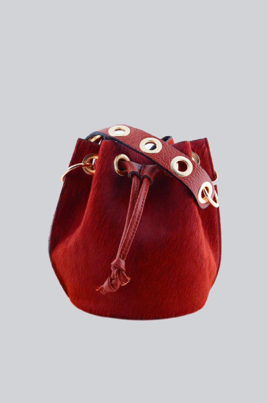 Mini secchiello in cavallino rosso