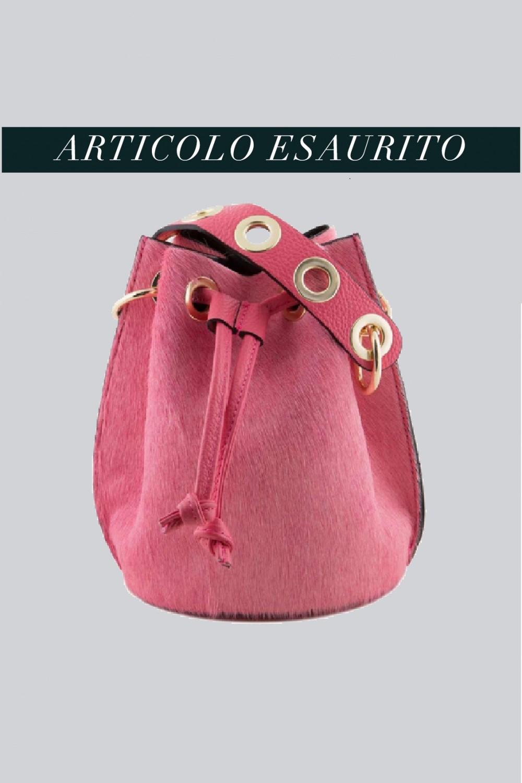 Mini secchiello in cavallino rosa