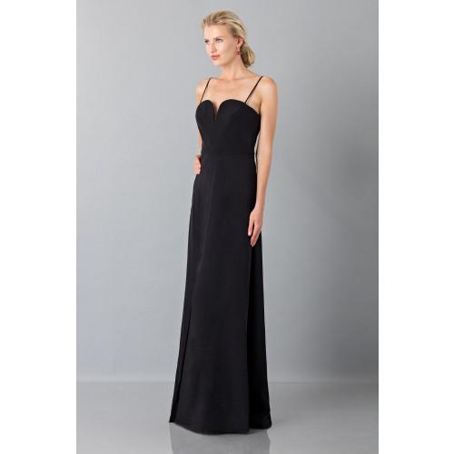 Vestito nero lungo con spacco