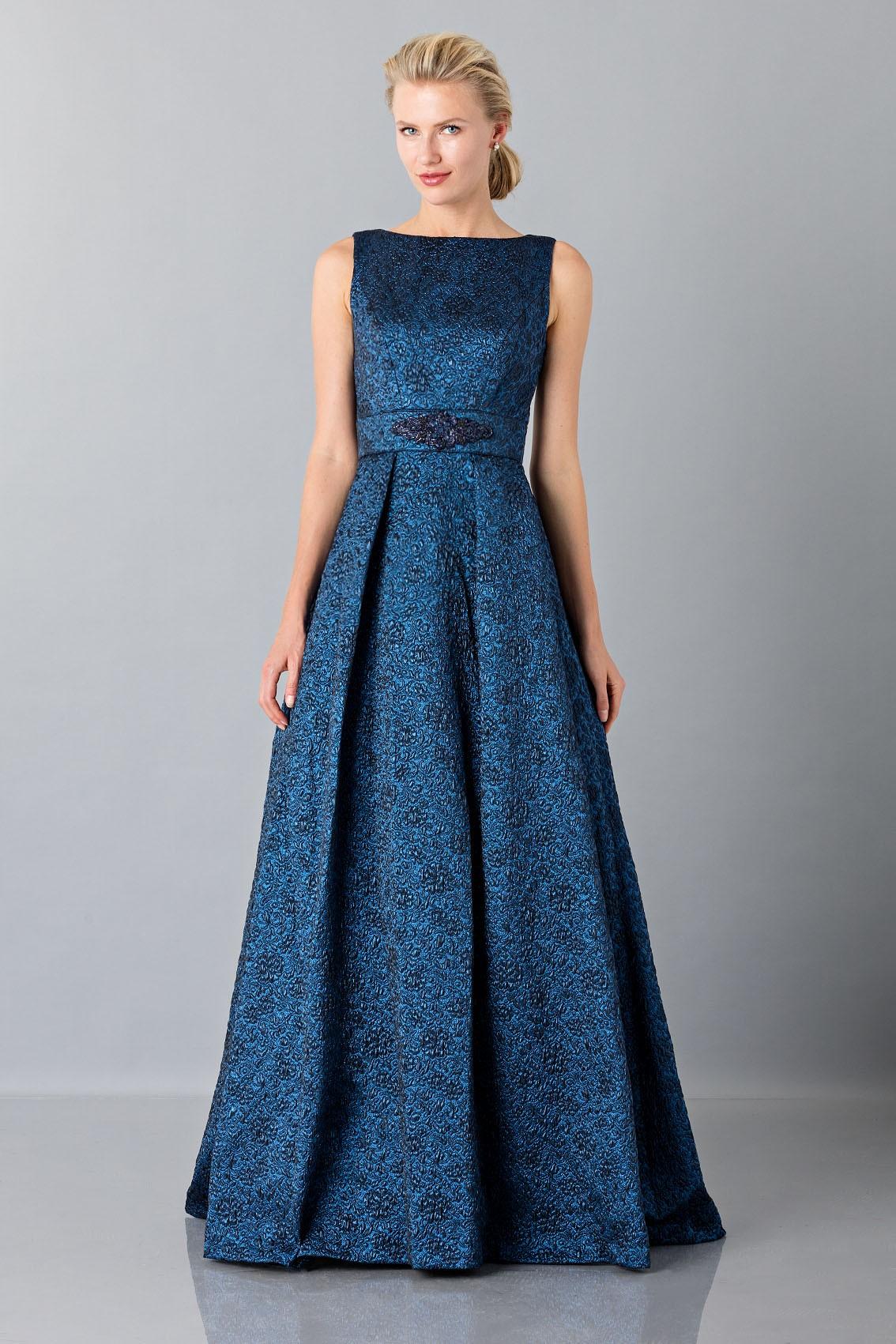 Rent a Theia dress Light blue dress with detail at the waist