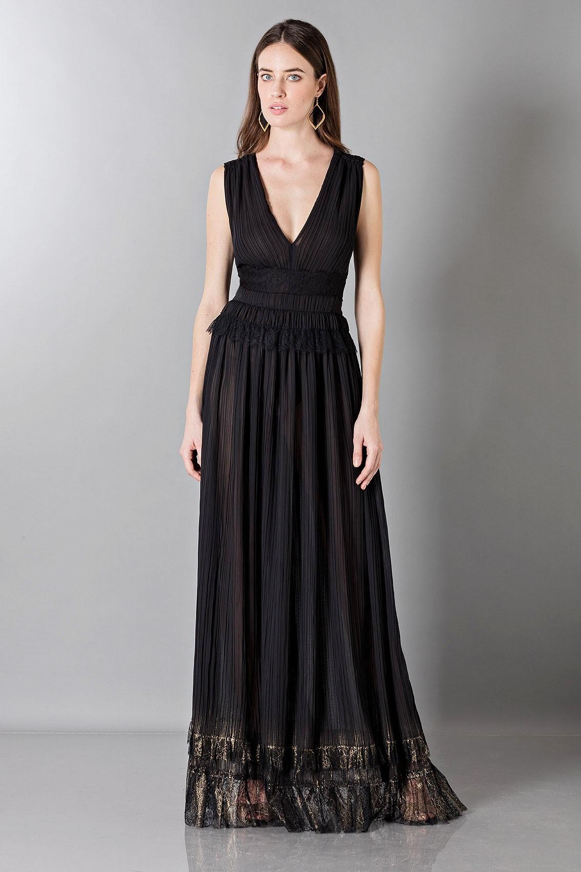 ed789e4b081 Drexcode - Alberta Ferretti Robe longue et noire