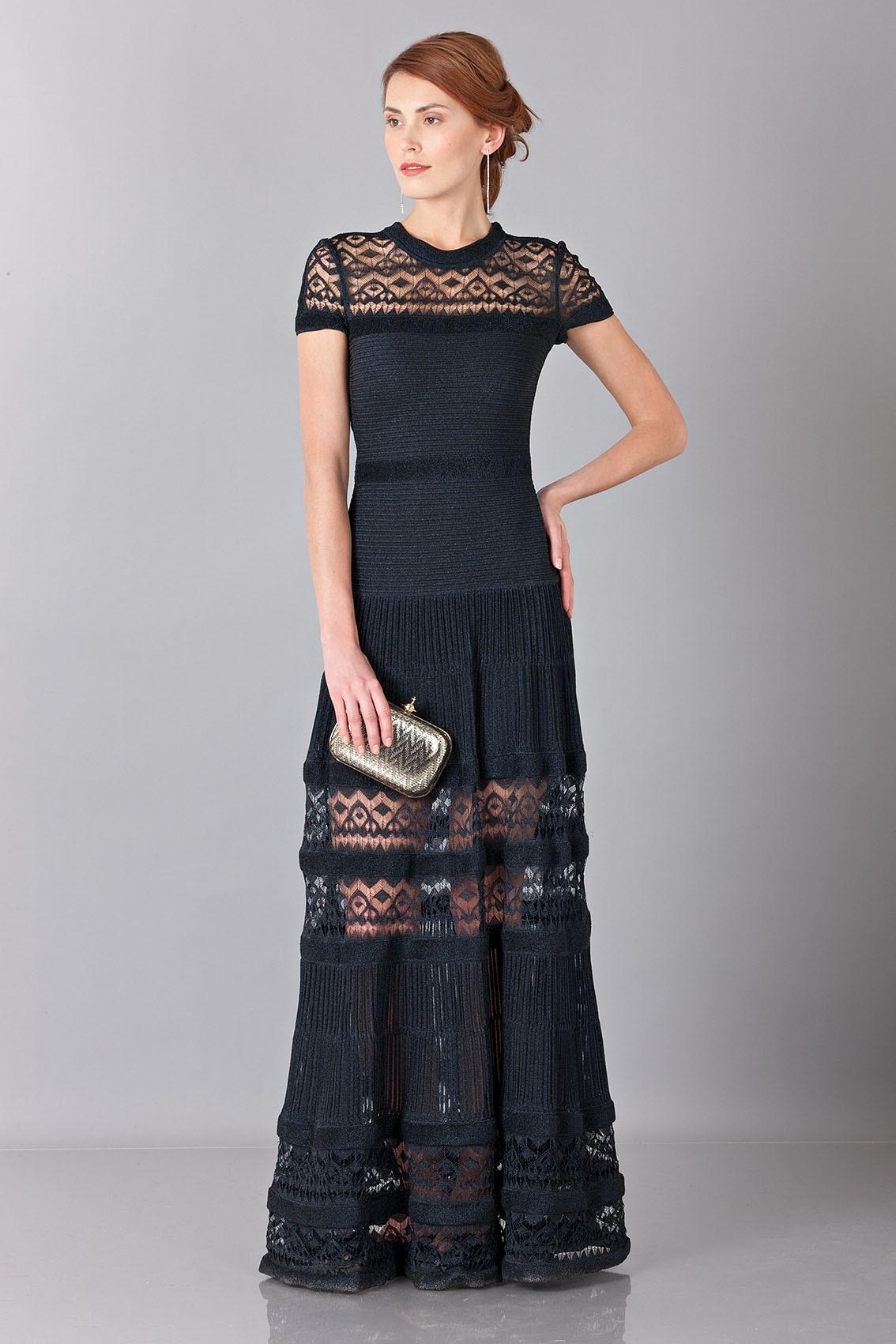 35b87e63789 Drexcode - Vionnet Robe longue en maille